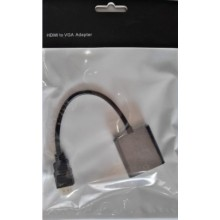 hdmi转vga线带音频标准hdmi to vga转接头高清转换器带供电机顶盒