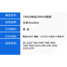 适用兄弟DR-420硒鼓TN 2060 2240 2280 FAX-2840 MFC-7460 2220